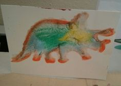 We're making dinosaur gel prints through August 2, 2014.
