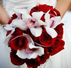bouquet rouge et blanc [Photos]