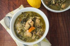 Slow Cooker Chicken Quinoa Soup with Kale -- makes a big batch and freezes great.