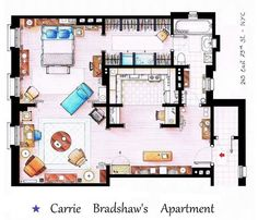 Ms Bradshaws apartment. I want to live in a space just like hers: small but meaningful.