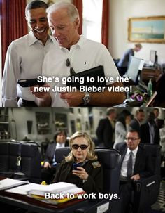 LOL... Texts from Hillary
