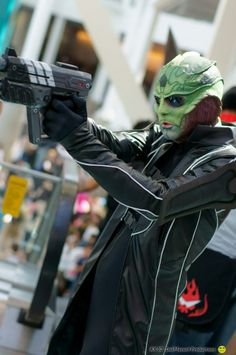 Thane from Mass Effect. It's amazing how much awesome Mass Effect cosplay there is! So jealous of the skills.