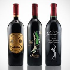 Personalized etched wine is great for golf tournaments and fundraisers.