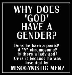 god is male?