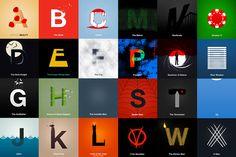 movi alphabet, letter movi, typographi harf, cinema alphabet, alphabet movi, movi typographi, films, typography, letters