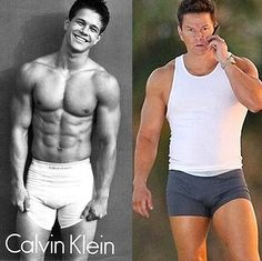 Mark Wahlberg - Then and Now    He still looks great in underwear, impressive photos of Mark Wahlberg when he was a model for Calvin Klein men's underwear and now.