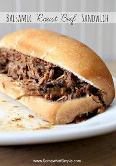 Balsamic Roast Beef Sandwich... yes please!!!