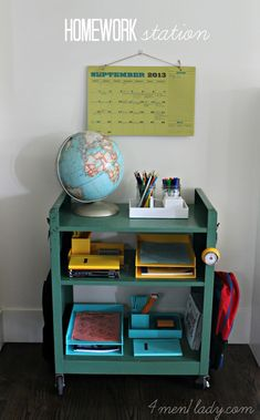 Homework station.
