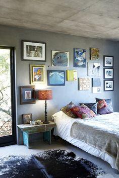 artsy bedroom