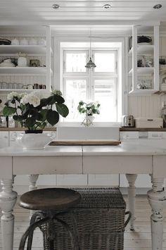 simple white kitchen . . .