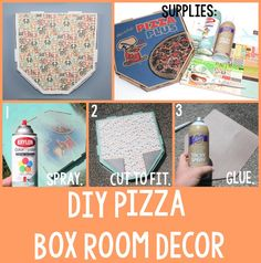 DIY Pizza Box Room Decor | A Little Craft In Your Day