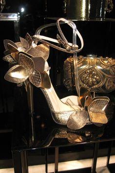 Jimmy Choo Golden Fall Florals #Shoes #Choos #JimmyChoo