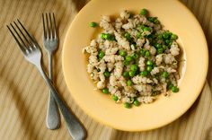 "Crosnes and Peas:  Crosnes are small, crisp, tan-skinned white tubers with a crisp texture and mild nutty, artichoke-like flavor. Crosnes (pronounced ""crone"") are unusual tubers that grow like potatoes and resemble sunchokes in flavor, texture, and use."