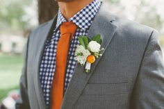 Matching tie and boutonnière