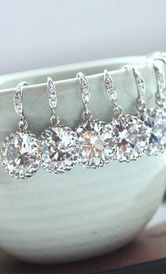 bridesmaid earrings; other styles available