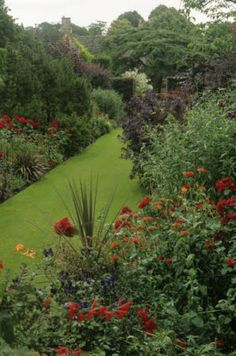 The Red borders in July at Hidcote Manor
