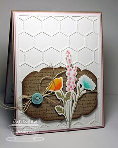 Peaceful Wildflowers; Pretty Poppies; Wildflowers Die-namics; Chicken Wire Die-namics; Heirloom Label Die-namics - Jodi Collins