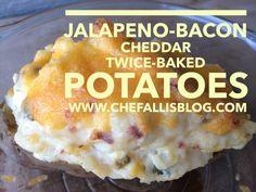 Jalapeno Bacon Cheddar Twice Baked Potatoes
