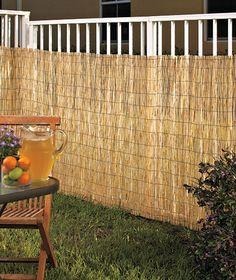 Reed Privacy Fence  $10.95each (4 feet high, 10 feet long)