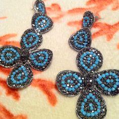 Chandelier Turquoise Ear Rings   http://www.etsy.com/listing/86122242/turquoise-open-oval-chandelier-earrings
