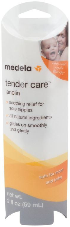 Medela Tendercare Lanolin Nipple Cream  Sorry, ladies, but it can hurt.  Register for 2 of these - one for home, one for your diaper bag.