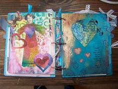 Art journal pages by Anneliese Bates.