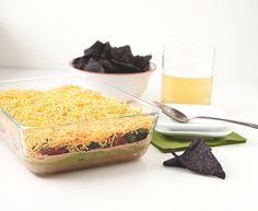 """mom's seven layer dip"" recipe."