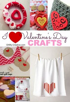 I Heart Valentine's Day Crafts - Oh My Creative