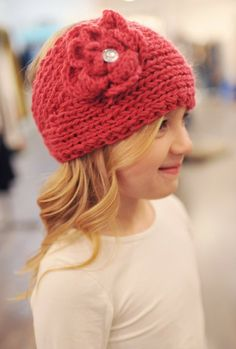 Dottie Couture Boutique - Kid Knit Headband- Pink, $9.00 (http://www.dottiecouture.com/kid-knit-headband-berry/)
