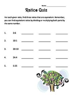 worksheets related to percents, decimals, and ratios. The worksheets ...