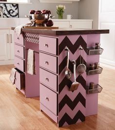 Upcycle your own kitchen island! Find directions on joann.com