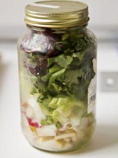 6 Salad Recipes In A Jar.