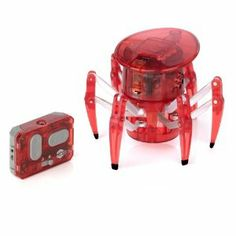 Hexbug Spider - Red by Innovation First. $54.99. Dual Band Infrared Remote Control. 360 Degree Rotating Head. Six-Legged Spider Crawling Movement. Batteries Included. Remote Control for Full-Range Control. With six-legged arachnid-style movement, the HEXBUG Spider gives children full control over its unique mechanized movement. The six legs smartly coordinate their actions to ensure the spider stays upright while crawling across smooth surfaces. To prevent any slippage, each...