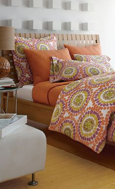 Dot Percale #bedding #bedrooms More style bedding here www.colorfulmart.com