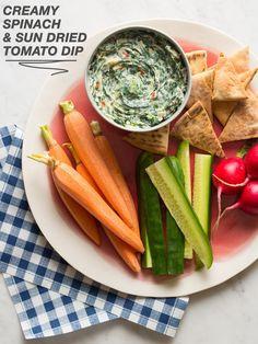 Creamy Spinach and Sun Dried Tomato Dip /
