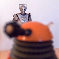 Lytro camera picture of Dalek vs. Cyberman