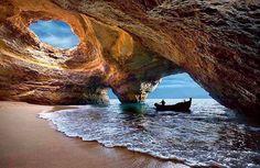 Benagil beach. Algarve, Portugal