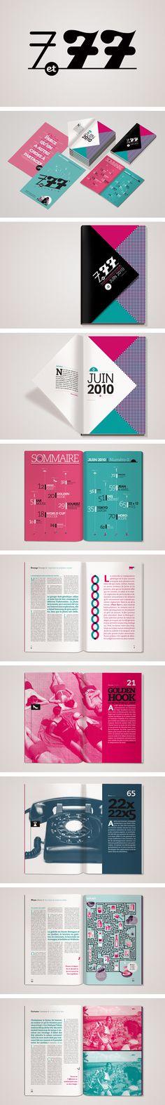 """charte graphique et mise en page pour le magazine intergénérationnel """"7 et 77""""."""