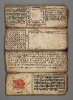 Book of Astrology and Omens Nepal, 14th-16th century (via LACMA Collections)