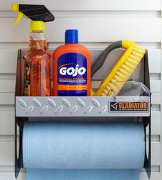 Easy Cleanup station for the garage- love this idea! Via BHG