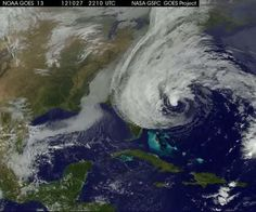 GOES-13 Sees Life and Death of Hurricane Sandy - This animation of satellite imagery shows the life of Hurricane Sandy from its development in the Caribbean Sea on Oct. 21, through its track up the U.S. East coast and landfall. The animation continues through Oct. 31 when Sandy had weakened to a remnant low pressure area. Credit: NASA GOES Project