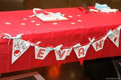 Bowling party - personalized DIY printable pennant banner
