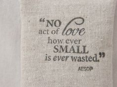 Aesop Quote Lavender Drawer Sachet Inspirational by gardenmis, $10.00