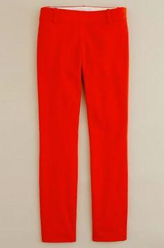 J. Crew Red Trouser Pant
