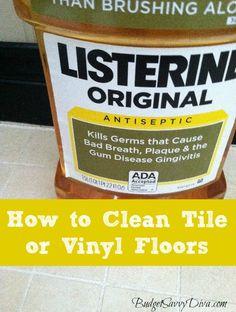 How to Clean Tile or Vinyl Floors
