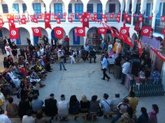 Devotees came to enjoy the traditional Tunisian-Jewish music and honour Rabbi Shimon Bar Yochai, a 2nd century scholar of the Torah, also known as the five books of Moses.