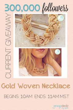 Next giveaway is live!! This necklace is so pretty on, hurry and enter! These giveaways only last an hour!