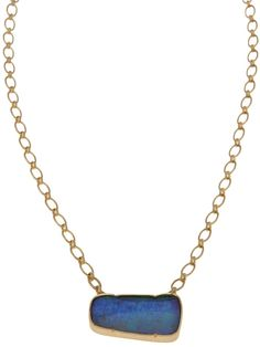 Irene Neuwirth 18K gold chain with opal