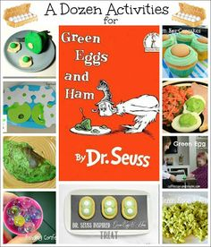 A Dozen Activities for Green Eggs and Ham by Dr. Seuss from Reading Confetti blog.