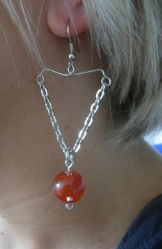 Chain pendant earring by maximodinotte on Etsy, €15.00